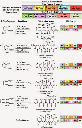 抗生素介紹 Part II:四環黴素(Tetracycline)-嶄新的四環黴素合成方法 - 科學,就是醬